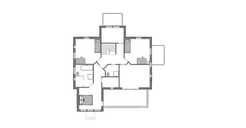 Sekelskiftshus övervåning